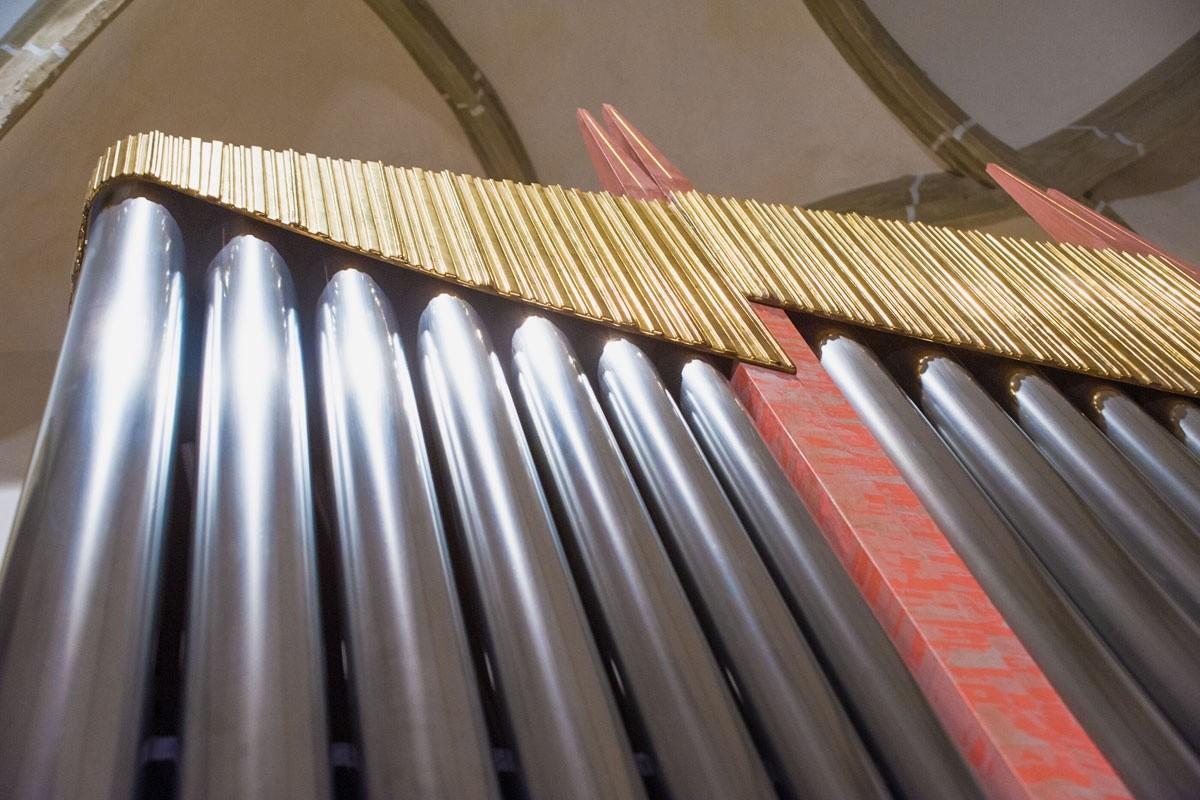 Detail Orgelprospekt, Orgel Freiberg