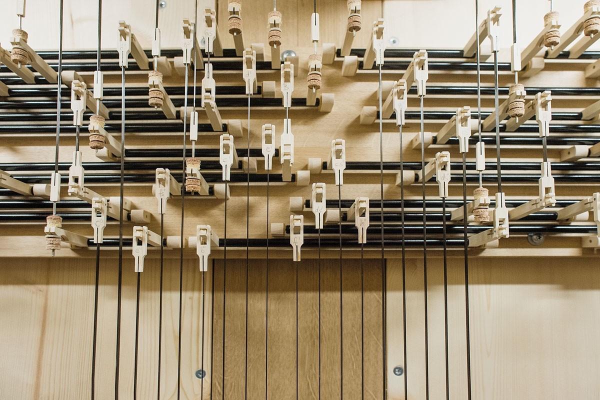 Detail Spieltraktur, Orgel Freiberg
